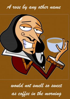 Shakespeare coffee graphic