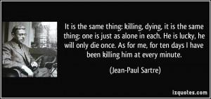The Same Thing Killing...