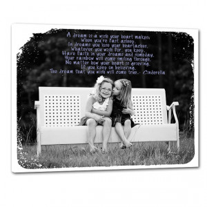 Sisters, Siblings, Family Custom Photo with Lyrics, Quotes on Canvas ...