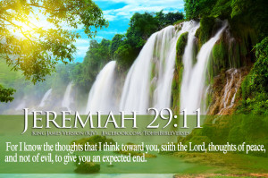 Bible Verses On Blessings Jeremiah 29:11 Waterfall HD Wallpaper