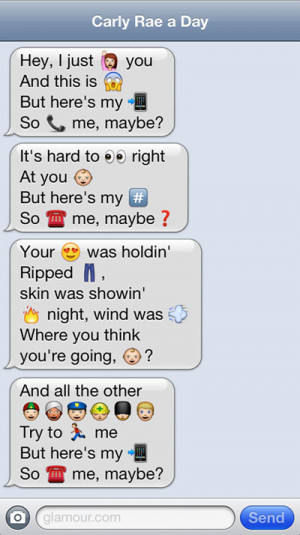 funny iphone emoji call me maybe