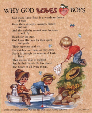 cute inspirational quote about little boys I have this in the boys ...