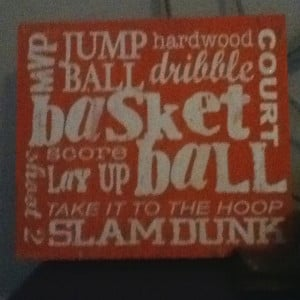 Basketball poster thing going in my room