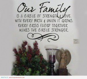 Our family is a bible of strengte family quote