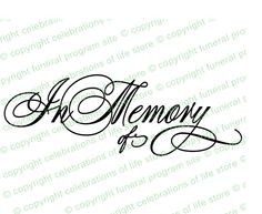 Elegant Title perfect to insert into any funeral or memorial program ...