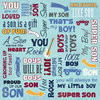... - Daughter and Son Collection - 12 x 12 Paper - Super Son Collage