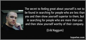 The secret to feeling great about yourself is not to be found in ...