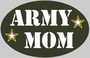 Army Mom oval
