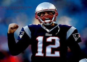Tom Brady Motivational Quote Greeting Card