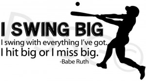 Famous Baseball Quotes Babe Ruth Baseball quote famous