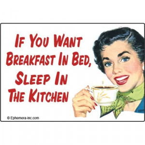 seriously... what is the allure of breakfast in bed... weird...