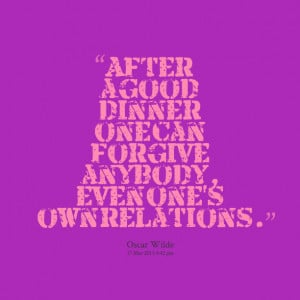 Family Dinner Quotes Quotes picture: after a good