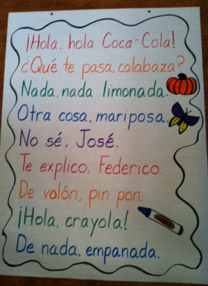 De nada, empanada: Spanish Rhyming Phrases