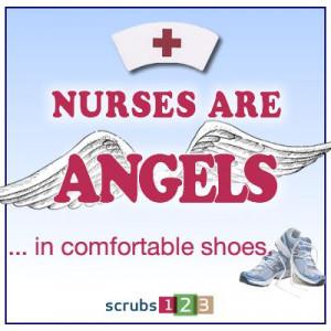 Nurses are Angels in comfortable shoes.Nurs Humor, Nurs Parties, Nurs ...