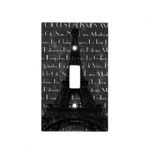 Paris Eiffel Tower with Quotes Switch Plate Cover