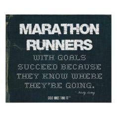 Marathon #Runners with Goals Succeed in Denim > Motivational poster ...
