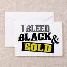 Bleed Black and Gold Greeting Cards Pk of 10 for