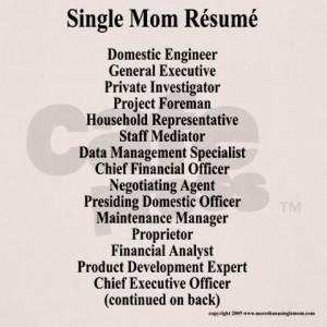 Single Mom Resume