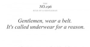 The rules of a Gentleman NO.196