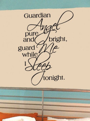 guardian_angel_pure_23x30_vinyl_lettering_wall_quotes_words_sticky_art ...