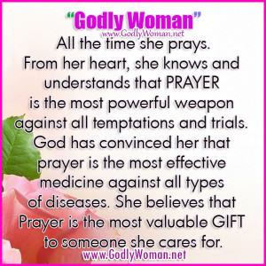 Godly Woman Prays