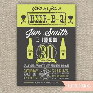 Birthday Parties, Beer Bbq Birthday, 21St Birthday Invitations, Dirty ...