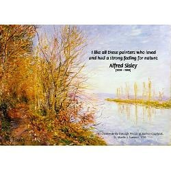 alfred sisley nature quote calendar print jpg height 250 amp width 250
