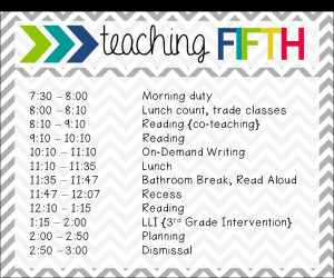 So, at a glance, this is my teachingschedule -