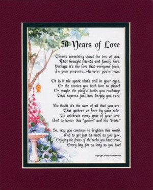 50th Wedding Anniversary Quotes