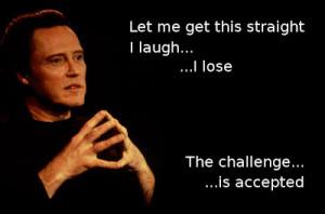 Christopher Walken, Challenge Accepted