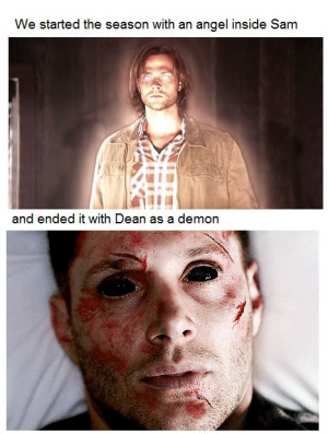 boy with the demon blood as an angel and the righteous man as a demon ...
