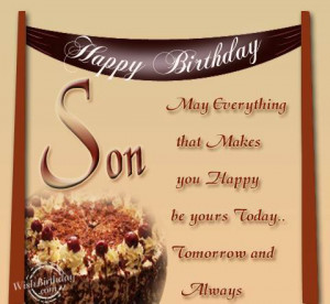 Wishing You A Very Happy Birthday Dear Son
