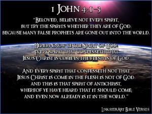 LinksterArt Bible Verses: 1 John 4:1-3