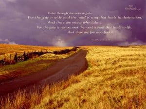 Country Road Scripture Wallpaper