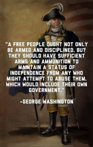 George-Washington speaks on gun control
