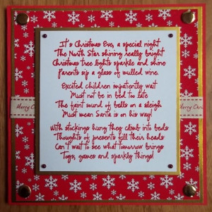 christmas eve poem stamp by visible image stamps