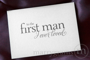 Father Daughter Wedding Quotes Wedding card to your dad