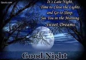 Good night quotes greetings and facebook status greetings and facebook ...
