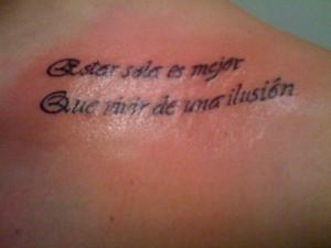 spanish love quotes tattoos