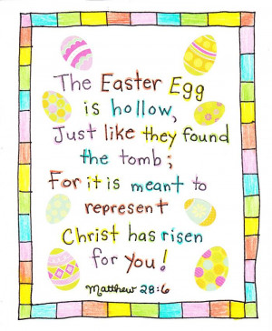 talking round the easter eggs because it s easter day