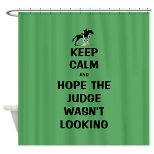 ... Eventing Bathroom Décor > Funny Keep Calm Horse Show Shower Curtain