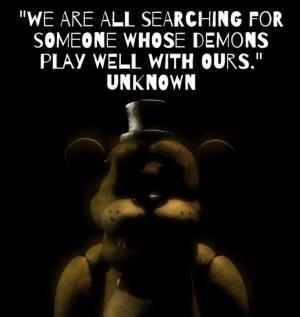 Golden Freddy soul quote: Freddie Fazbear, Freddie Soul, Inspar Quotes ...