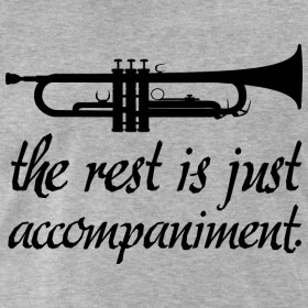 Design ~ Trumpet Music Band T-shirt (funny trumpet)