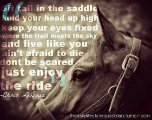 Chris LeDoux... I love this quote