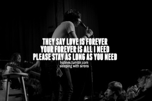 hqlines, life, love, quotes, sayings, sleeping with sirens