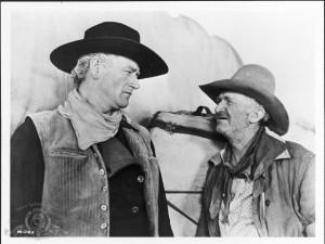 John Wayne as Thomas Dunson and Walter Brennan as Nadine Groot / Quote ...
