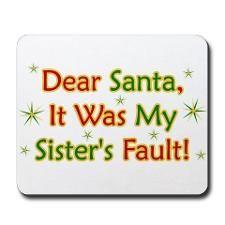 sister christmas quotes | Funny Christmas Sayings Mousepads | Buy ...