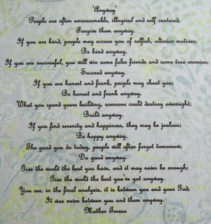 poem by mother teresa making of a poet do it anyway by mother teresa