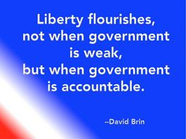 Liberty flourishes, not when government is weak, but when government ...