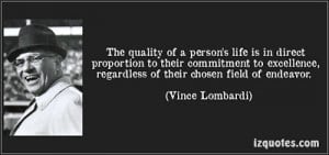 Vince Lombardi Character Quotes . Arthur joseph rooney speed deter him ...